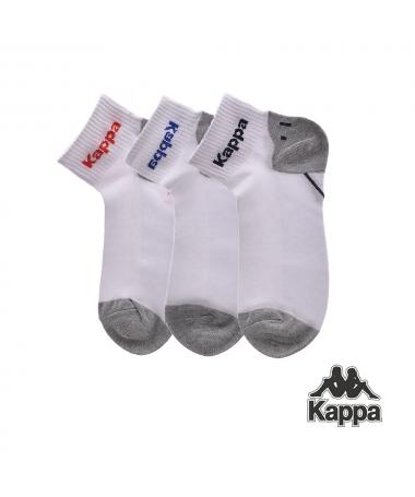 Set Sosete Scurte Kappa K22 Albe 3 Perechi - Trendmall.ro
