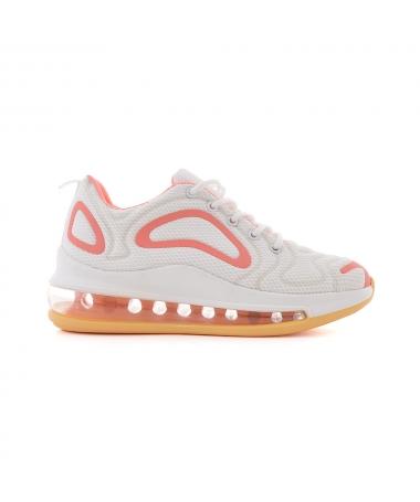 Pantofi Sport De Dama Ferdinia Alb Cu Roz - Trendmall.ro