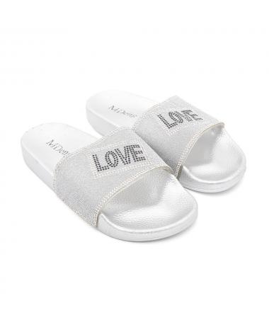 Papuci De Dama Love Arginti - Trendmall.ro