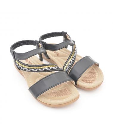 Sandale Cu Talpa Joasa De Dama Avam Negre - Trendmall.ro