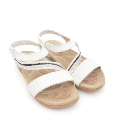 Sandale Cu Talpa Joasa De Dama Avam Albe - Trendmall.ro