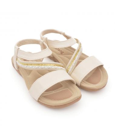 Sandale Cu Talpa Joasa De Dama Avam Bej - Trendmall.ro