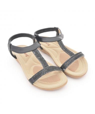 Sandale Cu Talpa Joasa De Dama Aloc Negre - Trendmall.ro