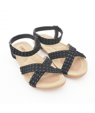 Sandale Cu Talpa Joasa De Dama Hein Negre - Trendmall.ro