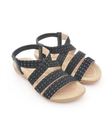 Sandale Cu Talpa Joasa De Dama Danca Negre - Trendmall.ro