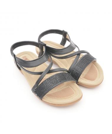 Sandale Cu Talpa Joasa De Dama Ancu Negre - Trendmall.ro