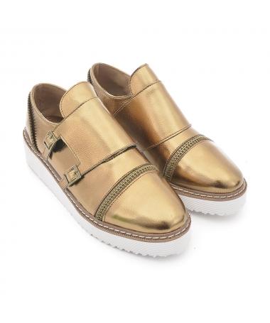 Pantofi Casual De Dama Catara Auriu - Trendmall.ro