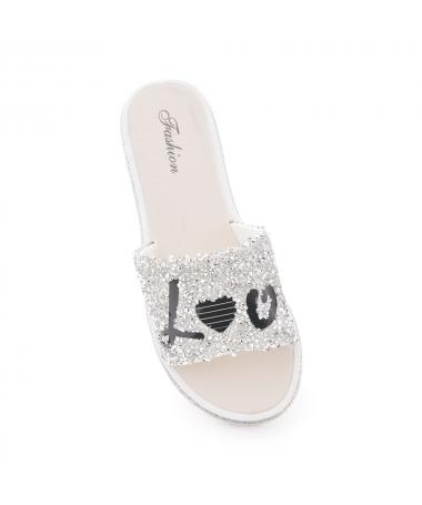 Papuci De Dama Dila Argintiu - Trendmall.ro