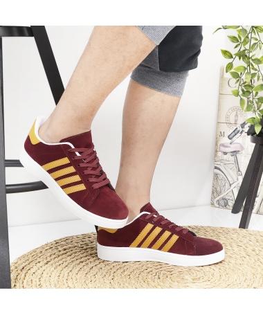 Pantofi Sport De Barbati Ambrose Visiniu Cu Galben - Trendmall.ro