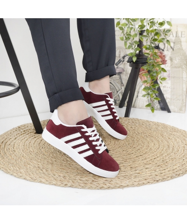 Pantofi Sport De Dama Ambrose Visiniu Cu Alb - Trendmall.ro