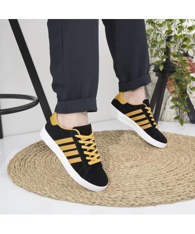 Pantofi Sport De Dama Ambrose Negru Cu Galben - Trendmall.ro