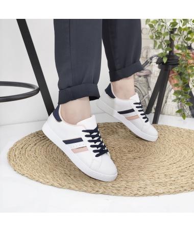 Pantofi Spot De Dama Dezir Alb Cu Albastru - Trendmall.ro