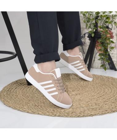 Pantofi Sport De Dama Noel Bej Cu Alb - Trendmall.ro