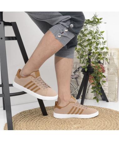 Pantofi Sport De Barbati Extend Bej Cu Maro - Trendmall.ro