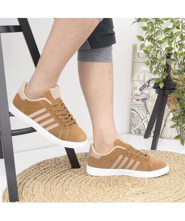 Pantofi Sport De Barbati Extend Maro Cu Bej - Trendmall.ro