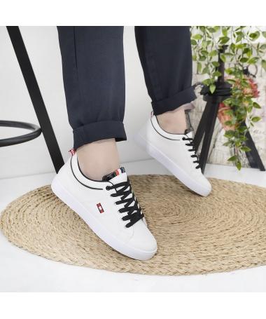 Pantofi Sport De Dama Termi Alb Cu Negru - Trendmall.ro