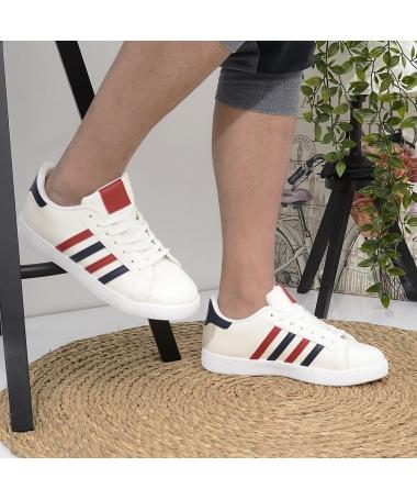 Pantofi Sport De Barbati Safri Albi - Trendmall.ro
