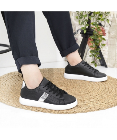 Pantofi Sport De Dama Udri Negru Cu Argintiu - Trendmall.ro