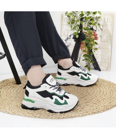 Pantofi Sport De Dama Le Bites Negru Cu Verde - Trendmall.ro