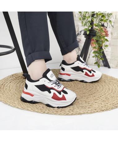 Pantofi Sport De Dama Le Bites Negru Cu Rosu - Trendmall.ro