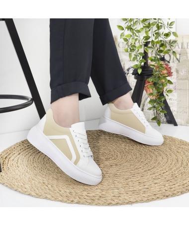 Pantofi Sport De Dama Gabron Bej - Trendmall.ro