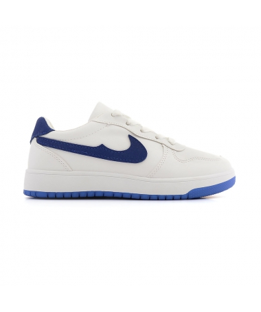 Pantofi Sport De Dama Enias Alb cu Albastru - Trendmall.ro