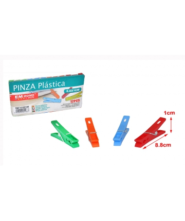 Set 12 Clesti De Rufe Din Plastic, 8.8x1CM - Trendmall.ro