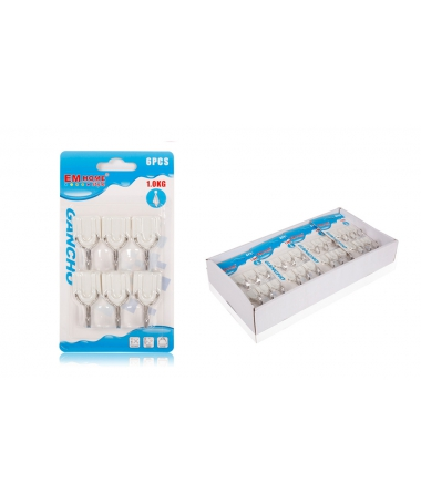 Set 6 Agatatoare Cuier Din Plastic Si Metal, 1.5KG - Trendmall.ro