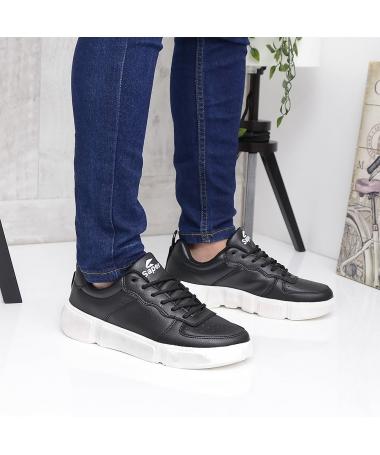 Pantofi Sport De Barbati Virin Negru Cu Alb - Trendmall.ro