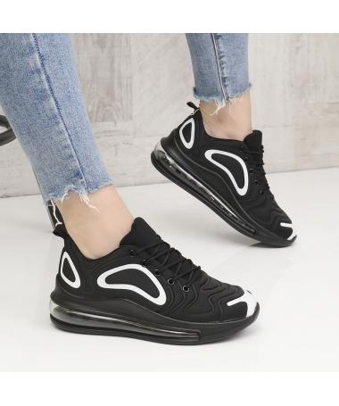 Pantofi Sport De Dama Stone Negru Cu Alb - Trendmall.ro