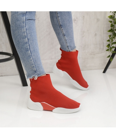 Pantofi Sport De Dama Senior Rosii - Trendmall.ro