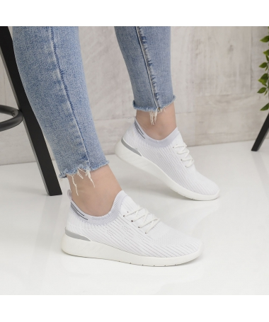 Pantofi Sport De Dama Elasto Albi - Trendmall.ro