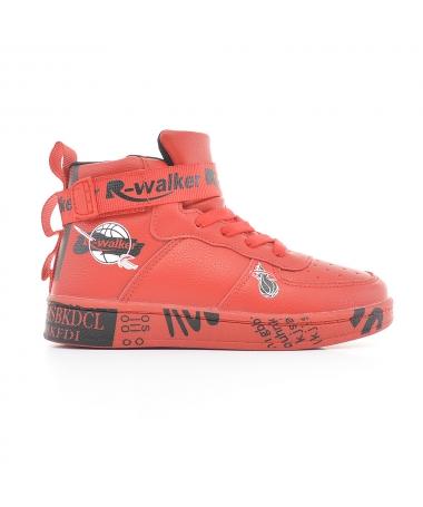 Pantofi Sport De Copii Walker Rosu Cu Negru - Trendmall.ro