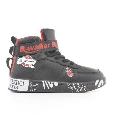 Pantofi Sport De Copii Walker Negru Cu Rosu - Trendmall.ro