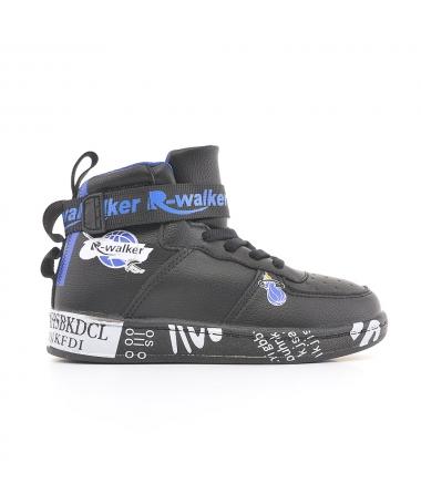 Pantofi Sport De Copii Walker Negru Cu Albastru - Trendmall.ro