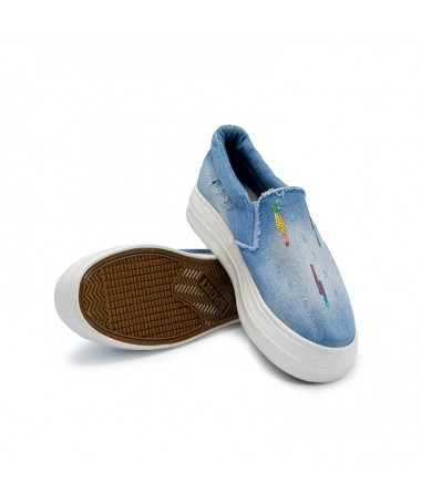 Espadrile Matria Jeans De Dama Albastru Deschis - Trendmall.ro