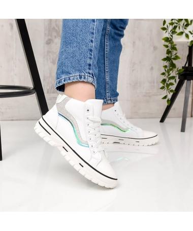 Pantofi Sport De Dama Iana Albi Cu Argintiu - Trendmall.ro