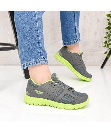 Pantofi Sport De Dama Beil Gri Cu Verde - Trendmall.ro