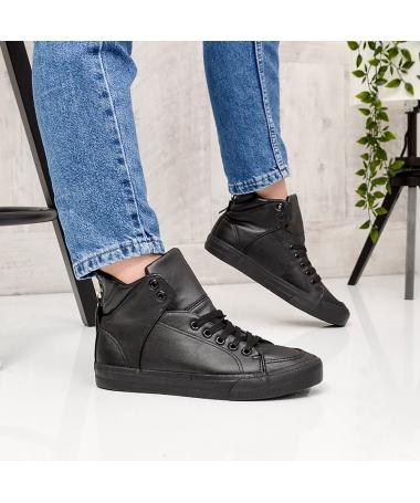 Pantofi Sport Rollo Mid Negri - Trendmall.ro