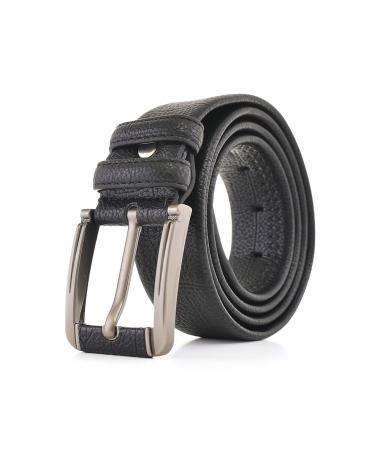 Curea Neagra De Barbati Cu Catarama Argintie KL50 - Trendmall.ro
