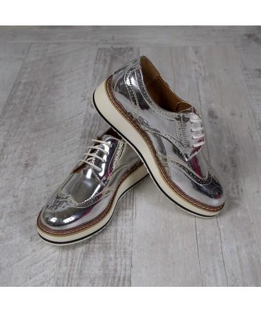 Pantofi De Dama Alma Argintii - Trendmall.ro