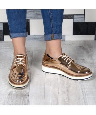 Pantofi De Dama Minnia Champagne - Trendmall.ro