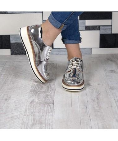 Pantofi De Dama Minnia Argintii - Trendmall.ro