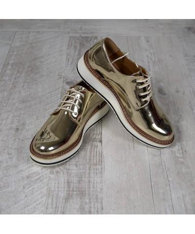 Pantofi De Dama Minnia Golden - Trendmall.ro