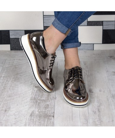 Pantofi De Dama Minnia Gun - Trendmall.ro