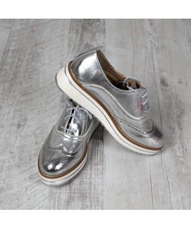 Pantofi De Dama Grace Argintii - Trendmall.ro