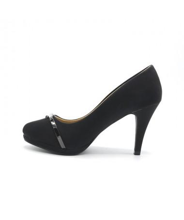 Pantofi Cu Toc Destiny Negri De Dama - Trendmall.ro