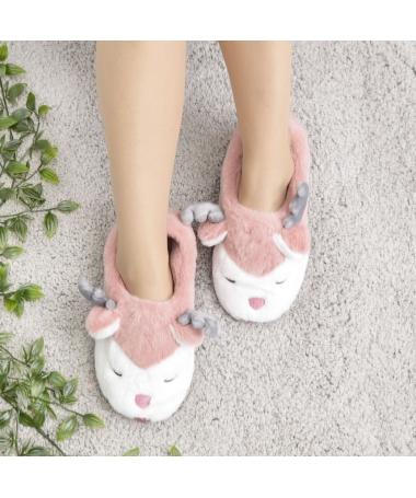 Papuci De Casa De Dama Reni Piersica - Trendmall.ro