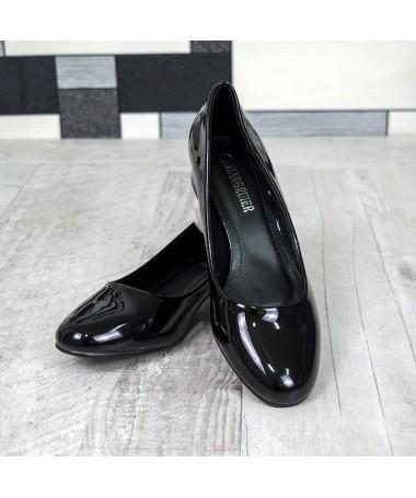 Pantofi Cu Toc Klara Negri - Trendmall.ro