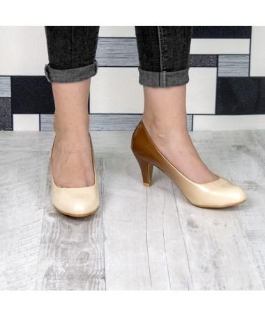Pantofi Cu Toc Sam Bej - Trendmall.ro